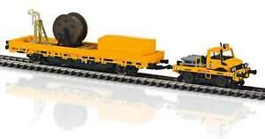MARKLIN-39940-Unimog-Type-1650-Hi-Rail-Camion-et-catenaire-Ligne-Voiture-Nouveau
