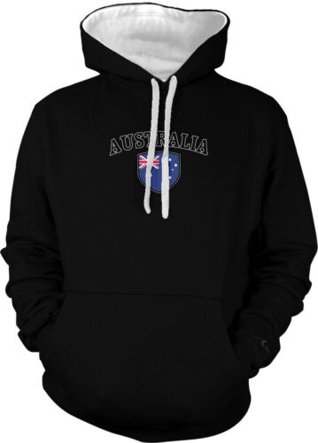Australia Flag Crest National Soccer Football Pride 2-tone Hoodie Pullover