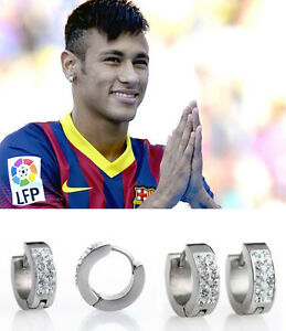 neymar earrings s boy s neymar 18ct white gold plated effect 7695