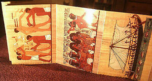 Postcard-Strip-of-18-Cards-From-Egypt-Unposted-FREE-POSTAGE