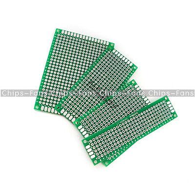 8PCS Double Side Prototype PCB Tinned BreadBoard 5x7 4x6 3x7 2x8CM Each 2PCS FR4