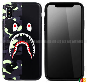 promo code 04fc8 4c6c6 Details about A Bathing Ape BAPE CITY CAMO SHARK Case For Apple iPhone XS  MAX XR X 8 7 PLUS 6S