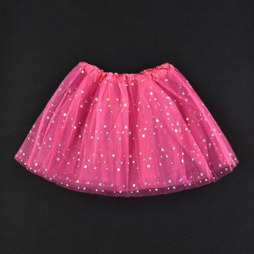Girls Kids Baby Dance Fluffy Tutu Skirt Pettiskirt Ballet Dress Up Fancy Costume
