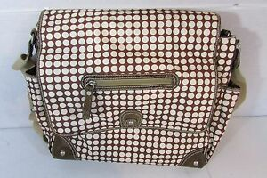 OiOi Diaper Tote Bag Brown Baby Infant Over the shoulder Messenger Style