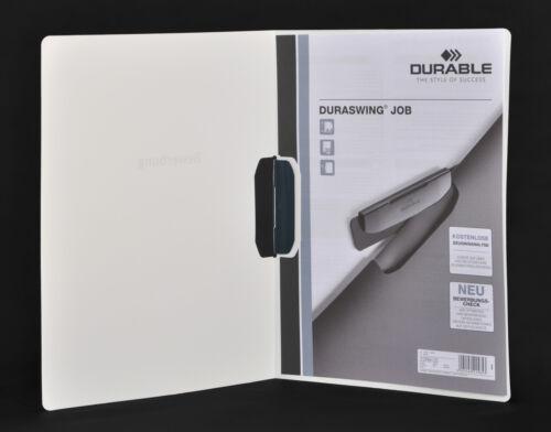 5x Durable DURASWING JOB weiss mit Clip Bewerbungsmappe Umschlägen