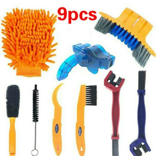 Bicycle Chain Cleaner Cycling Mountain Bike Cleaning Brushes Tools Wash Tool Kit