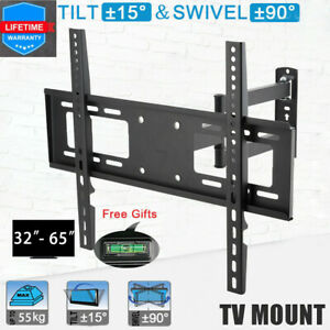 Fernsehhalter TV Wandhalterung Schwenkbar Neigbar für LCD LED 32-65 Zoll schwarz