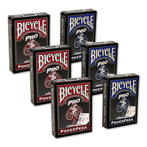 Cards Bicycle Pro Poker Peek 6 PACK Mixed USPCC