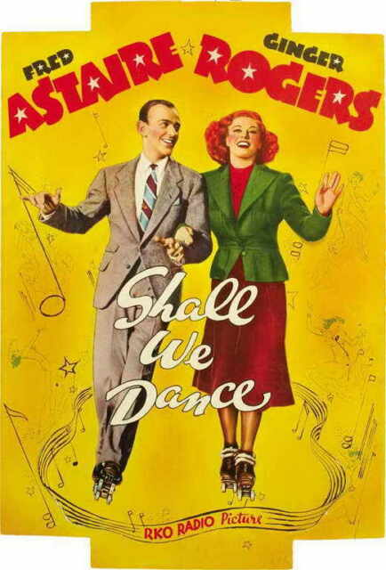 Shall We Dance Movie Poster 27x40 B Fred Astaire Ginger Rogers Edward Everett For Sale Online
