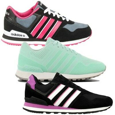 premium selection f5c8b f259d adidas Neo Label 10k W Black Purple Womens Suede Casual Shoes SNEAKERS  AW4932 UK 3.5