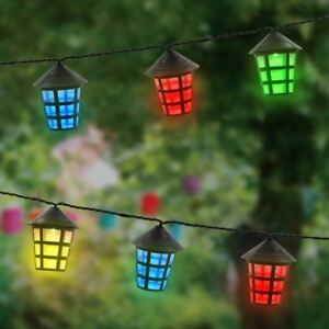 Image Is Loading 70 LED Outdoor Coloured Xmas Festive Party Lanterns