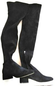 a9057c5f4d2 Dolce Vita Jimmy Black Stella Suede Over-The-Knee Boots Womens Shoes ...