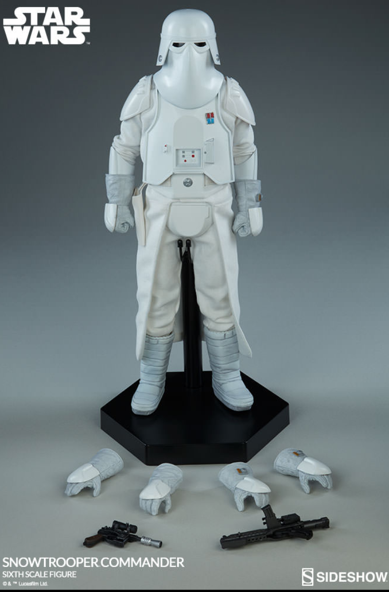 SIDESHOW STAR WARS SNOWTROOPER COMMANDER 1/6 FIGURE NEVER DISPLAYED COMPLETE on eBay thumbnail