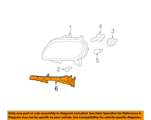 Chevrolet GM OEM HHR Headlight Head Light Lamp-Support Bracket Left 15836387