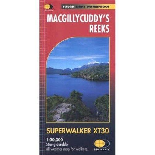 Harvey Superwalker Irish Map 1:30000 Macgillycuddys reeks