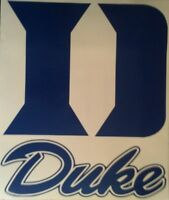 Duke Cornhole Decals - 2 Cornhole Decals Vinyl Vehicle Decals - Free Hole Decals