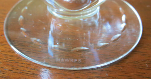 s Hawkes Signed Crystal Barclay Fire Cut #7330 Footed Iced Tea Tumbler