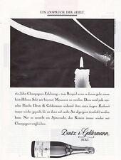 DEUTZ & GELDERMANN SEKT ANNONCE PUBLICITAIRE 1990 GERMANY ADVERT COUPURE MAG AD