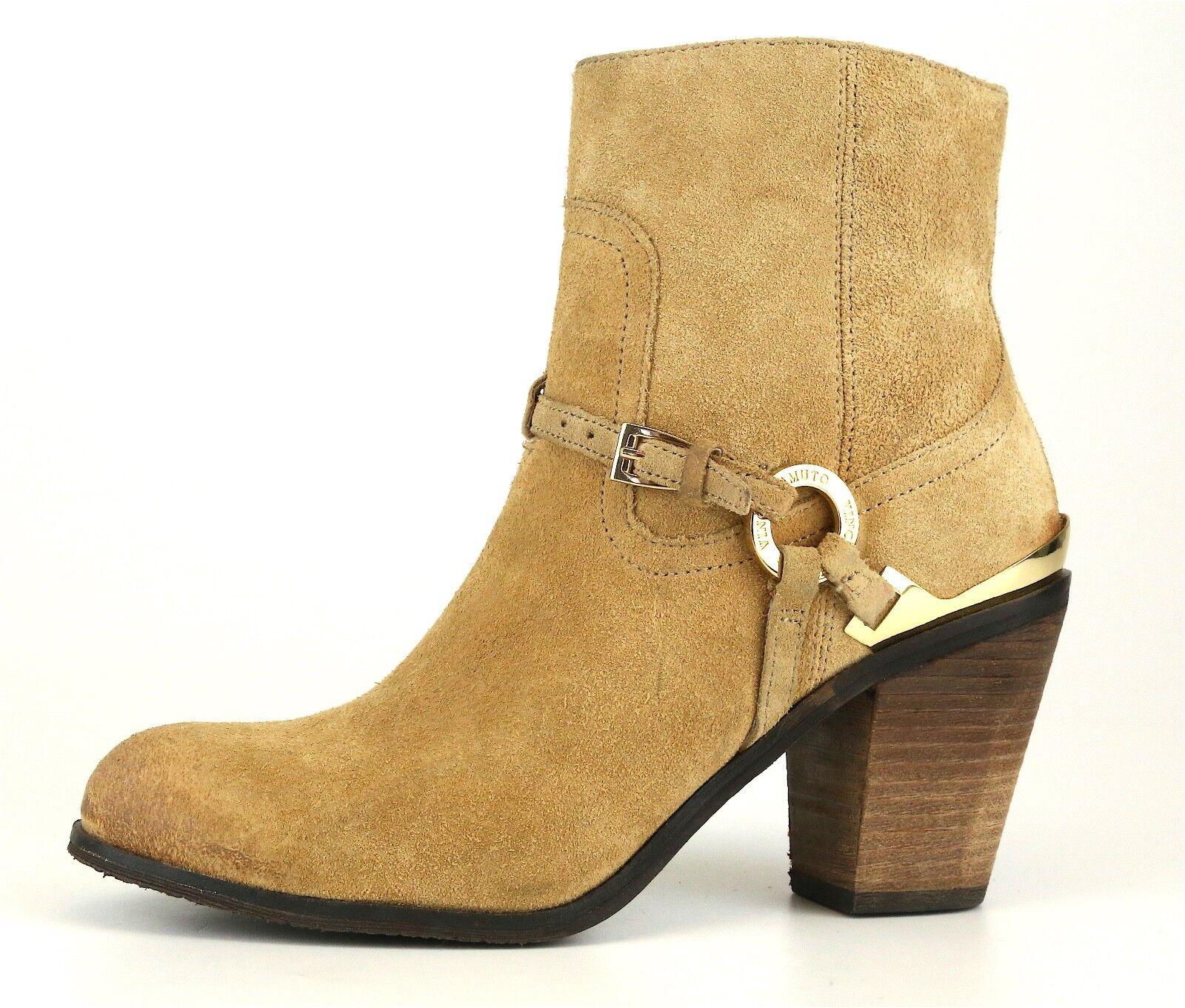 Vince Camuto Gregger Short Suede Boot Brown Women Sz 6.5 M 5239