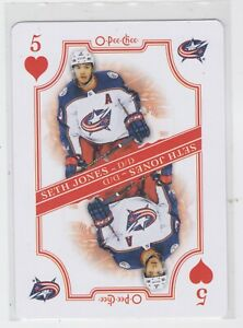 19-20-OPC-SETH-JONES-PLAYING-CARD-5H-BLUE-JACKETS-FREE-COMBINED-SHIP