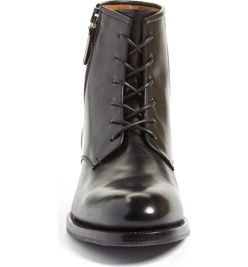 AQUATALIA Victor Homme Noir Weatherproof Plain Toe Zipper Accent démarrage 12 M  695