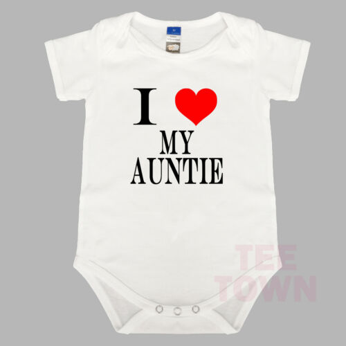 Cute Baby Suit. BabyGrow Funny I Love My Auntie Baby Romper