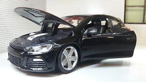 G-LGB-1-24-Scale-VW-Scirocco-2-0-GT-R-DSG-Coupe-Burago-Detailed-Model-Black