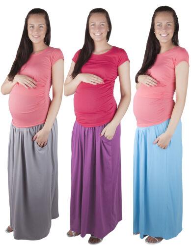 Maternity Casual Everyday Elegant Maxi Skirt Over Bump 3048A Mija