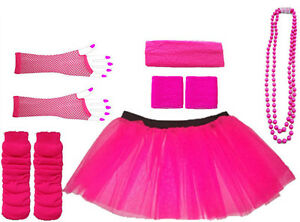 LADIES-PINK-NEON-TUTU-SKIRT-FANCY-DRESS-HEN-PARTY-PARTY-UV-FISHNET-8-16-16-22