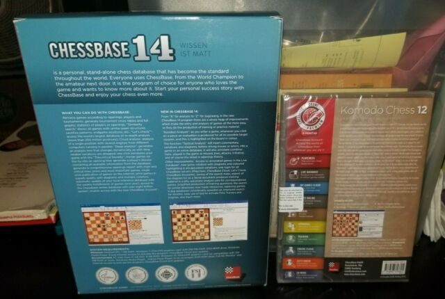 Komodo 12 and CHESSBASE 14 Starter Bundle Chess Software UNUSED & SEALED  DVDS