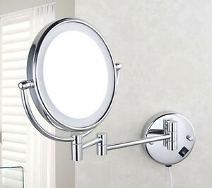 Magnified bathroom mirror - New Bathroom Wall Mounted Cosmetic Magnified Mirror Makeup