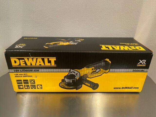 """BRAND NEW! DeWalt DCG412N 18V XR Li-Ion Cordless 125mm (5"""") Angle Grinder"""