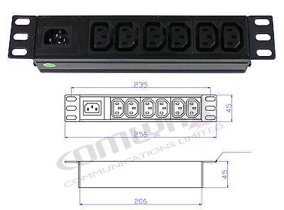 """10 """" 6 Modalità Iec Staccabile Distribuzione Dell' Alimentazione Unità Box Splitter Pdu Dati Rack- Adottare La Tecnologia Avanzata"""