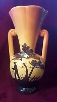 VINTAGE FRENCH CICADA VASE with handles