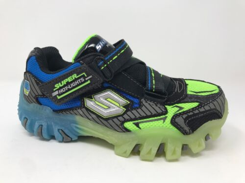 New Bolterz Blk//Blue//Lme B7 Boy Toddler Skechers 90479N Super Hot-Lights