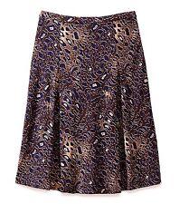 "$295 Tory Burch sz S (W ~ 30.5"") Coconut Abstract Leopard Farah Women Skirt NWT"