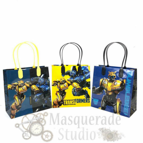 12ct Transformers Bumblebee Party Favor Supplies Goody Loot Gift Bags