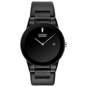 Citizen-Eco-Drive-Men-039-s-Axiom-Black-Leather-Band-40mm-Watch-AU1065-07E