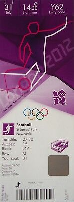 Sports Memorabilia Olympic Memorabilia Ticket Olympic 31/7/2012 Women's Fussball Canada Vs Sweden Y62