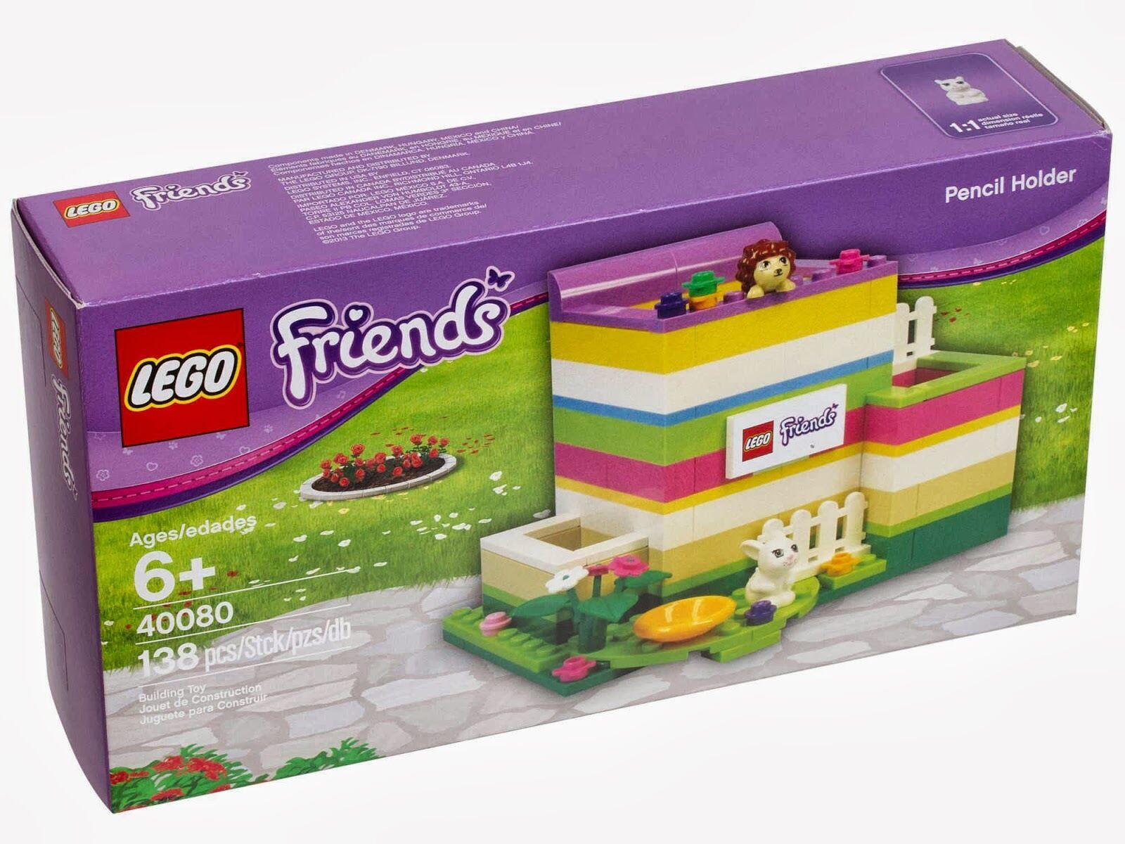 LEGO - Friends - Rare - 40080 Friends Pencil Holder - New & Sealed