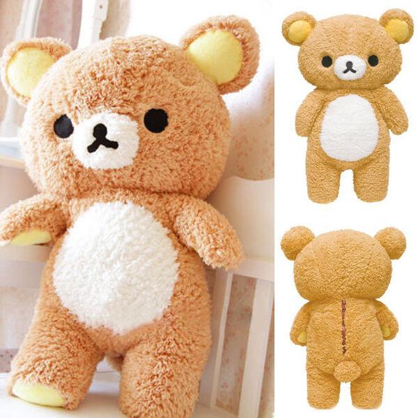 Fancy Stuffed Kawaii Gift Relax Bear Brown Pillow Plush Toy Doll