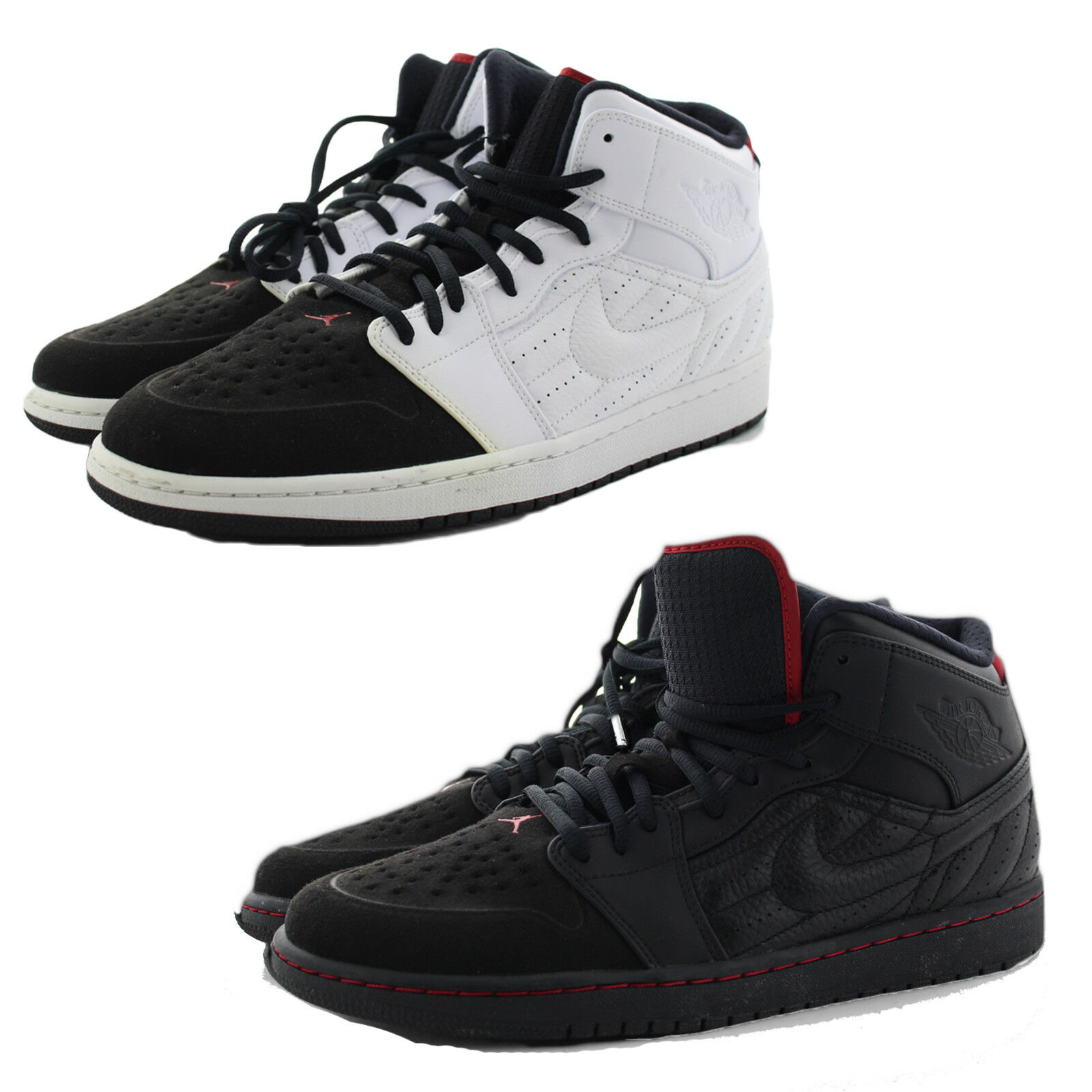 a91cf31468a Nike Air Jordan 1 Retro  99 Mens 654140-101 White Black Basketball Shoes  Size 12 for sale online