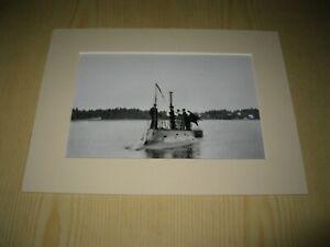 Hajen-The-Shark-first-Swedish-U-boat-mounted-photograph