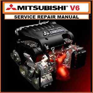 mitsubishi v6 engine manual 6g72 3 0l 6g74 3 5l 6g75 3 8l v6 rh ebay com au mitsubishi pajero 6g74 workshop manual 6g74 service manual