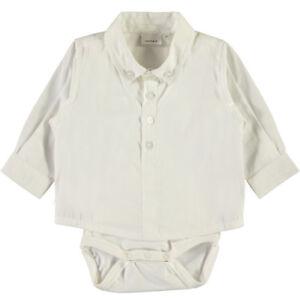 389f6b83e64c01 Baby Hemd Body Jungen Kinder Taufe Fest Anzug Tauf Kleidung Creme ...