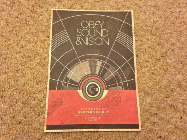 NEW, Rare & Deleted Promo SHEPARD FAIREY Obey - Sound & Vision - Exhibition Card