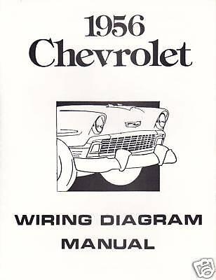 1956 56 CHEVROLET WIRING DIAGRAM MANUAL | eBay