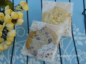 200x-Lace-self-seal-plastic-bags-lolly-cookie-candy-pastry-wedding-party-favour
