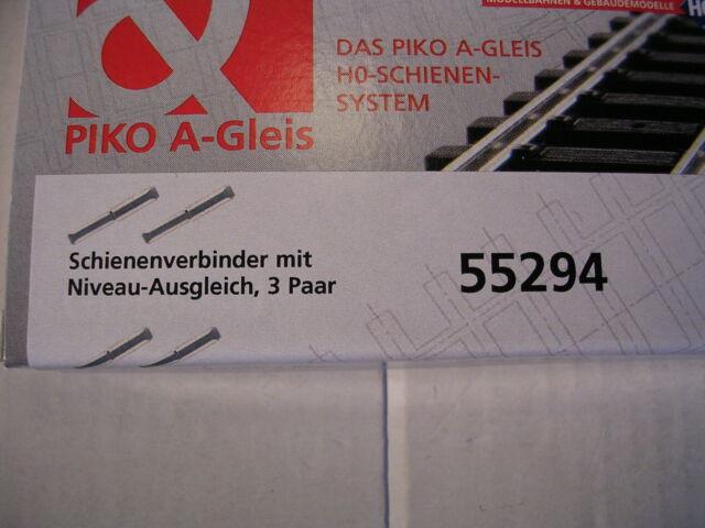 Piko 55294 Schienenverbinder mit Niveau-Ausgleich, 6 Stück in OVP, Neuware.