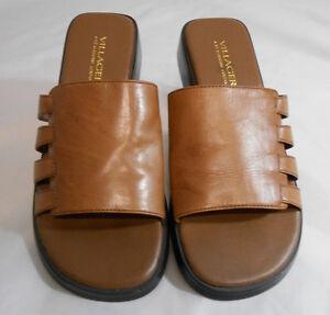 c4ffe8d6c54316 VILLAGE a Liz Claiborne Co BRUIN Womens Sandal Size 6.5 M Leather ...